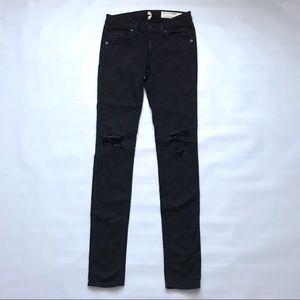 Rag & Bone skinny black distressed jeans 24